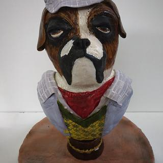 Gentle Jack - Tough Looking Dog with a Heart of Gold !  - Cake by GorgeousCakesBLR