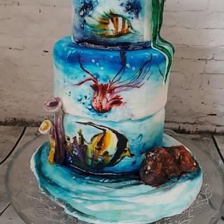 Under the sea Dummy Cake
