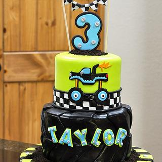 Monster tire and truck - Cake by Cakes For Fun
