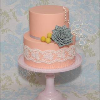 Vintage Succulent Wedding Cake