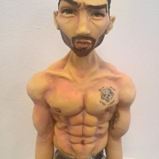 Sugar figure of bodybuilder