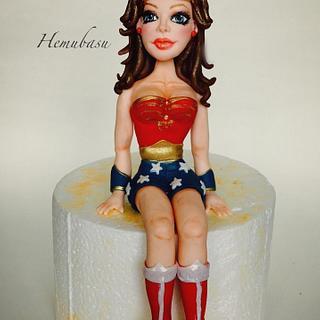 Wonder Woman cake topper!