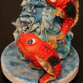 Koi Fish Cake - Overcome problems will make you stronger