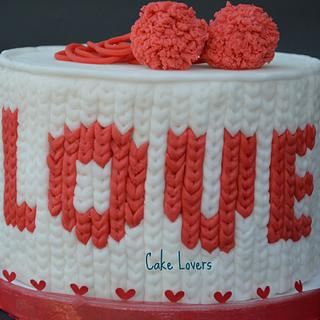 love knitted cake