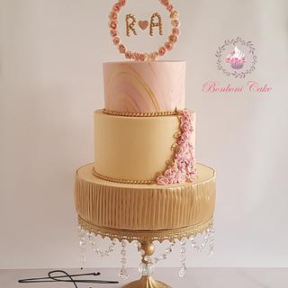 Engagement  - Cake by mona ghobara/Bonboni Cake