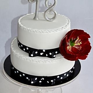 Black/white cake for 18th birthday