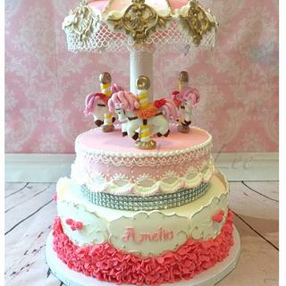 Carrousel cake! - Cake by Vancouver Sugar Arts