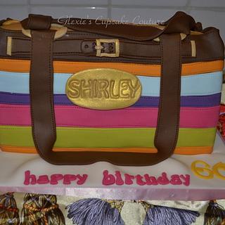 coach inspired purse cake