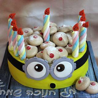 Minion Hanukka Cake