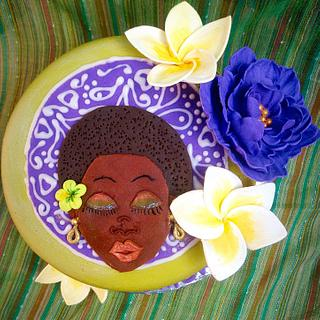 Afrocentric cake for a lady