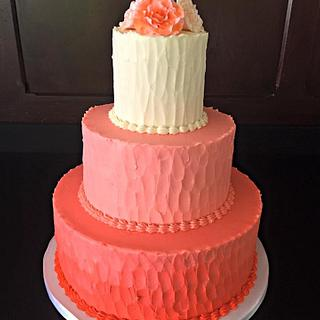 Ombre Coral Cake