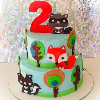 Woodland Animals 2nd birthday