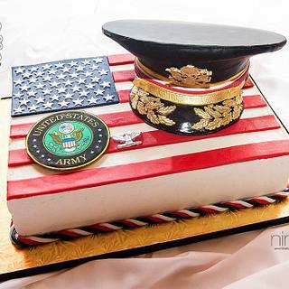 Army Promotion Cake - Cake by Joy Thompson at Sweet Treats by Joy