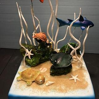 Scuba diving cake - Cake by Mycakecorner
