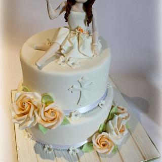 First Communion - Cake by Sabrina Di Clemente