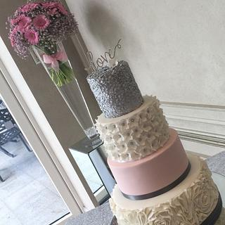 Touch of Pink  - Cake by Shirley Jones