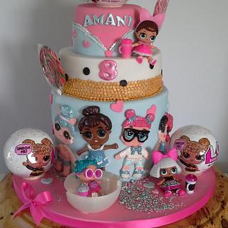 Lol doll cake