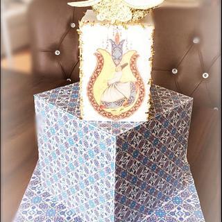 Ottoman tiles cake design