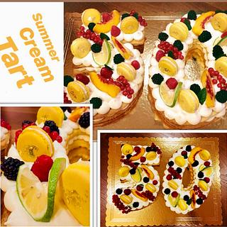Summer cream tart