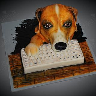 dog cake - Cake by Anna Krawczyk-Mechocka