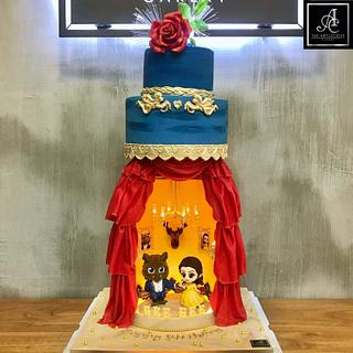 Beauty and the beast Theatre Cake