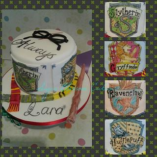 Hand painted Harry Potter themed cake