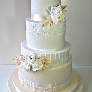 Wedding in champagne colour