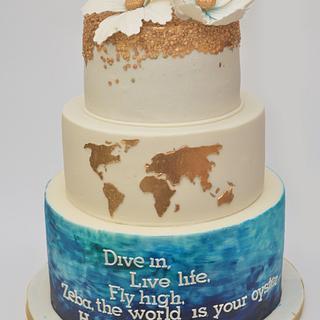 Travel enthusiast cake!