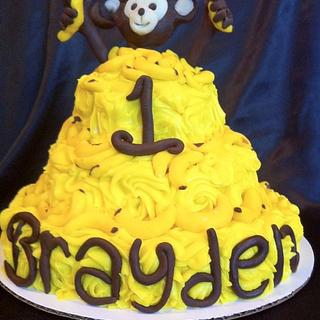Monkey & Banana Cake - Cake by cakesbymary