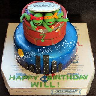 TMNT - Cake by Creative Cakes by Chris