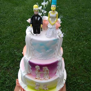 Two sided wedding cake