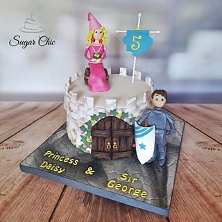 x Princess & Knight Castle Cake x