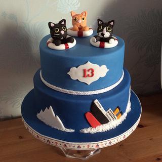 Titanic Kitty cake
