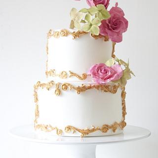 wedding cake - Cake by pamz