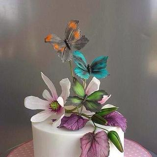 Flowers and Butterfly's