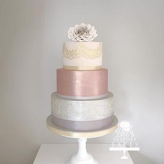 Three tier lustre and lace