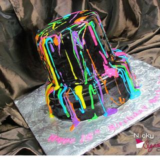 Splatter Paint Cake