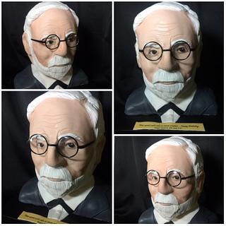 Sigmund Freud 3D Cake