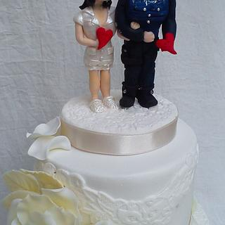 Wedding cake  for nurse and policeman