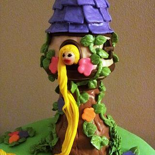 Rapunzel cake and tower