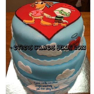 Chicken Little & Abby Anniversary Cake