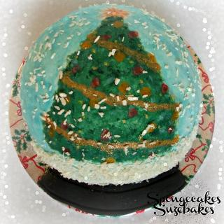 3D Snowglobe Christmas Cake