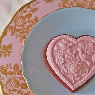 Pink Valentines Cookies