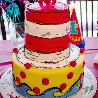 Dr. Suess Cat in the Hat Cake