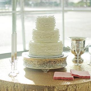 Frilly Ruffles Wedding Cake