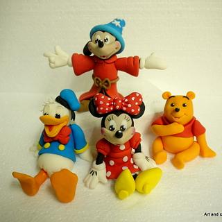 Mickey and friends caketoppers