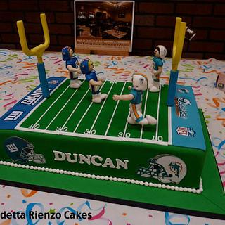 Are you ready for some football! Football Field Cake