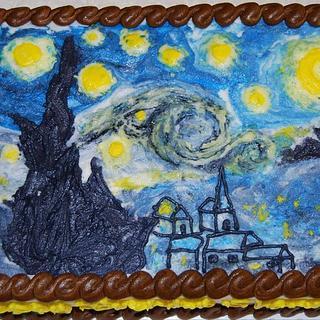Starry Night - Cake by CakesbyMayra