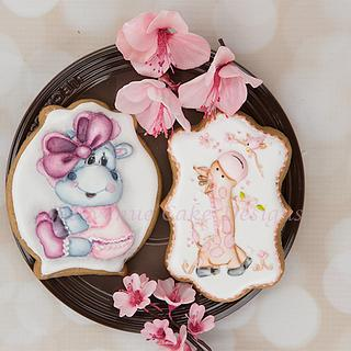 Adorable Royal Icing Baby Animal Cookies with Dimension 🦒🐮👶