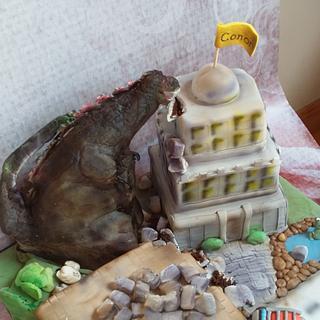 Godzilla - Cake by Lorna